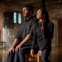 Mohammad Reza Aliakbari and Samaneh Zandinejad in their partnership scene, Brzezinka, September 2015, photo Maciej Zakrzewski