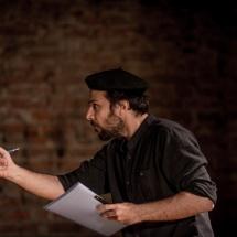 Mohammad Reza Aliakbari in a partnership scene, Brzezinka, September 2015, photo Maciej Zakrzewski